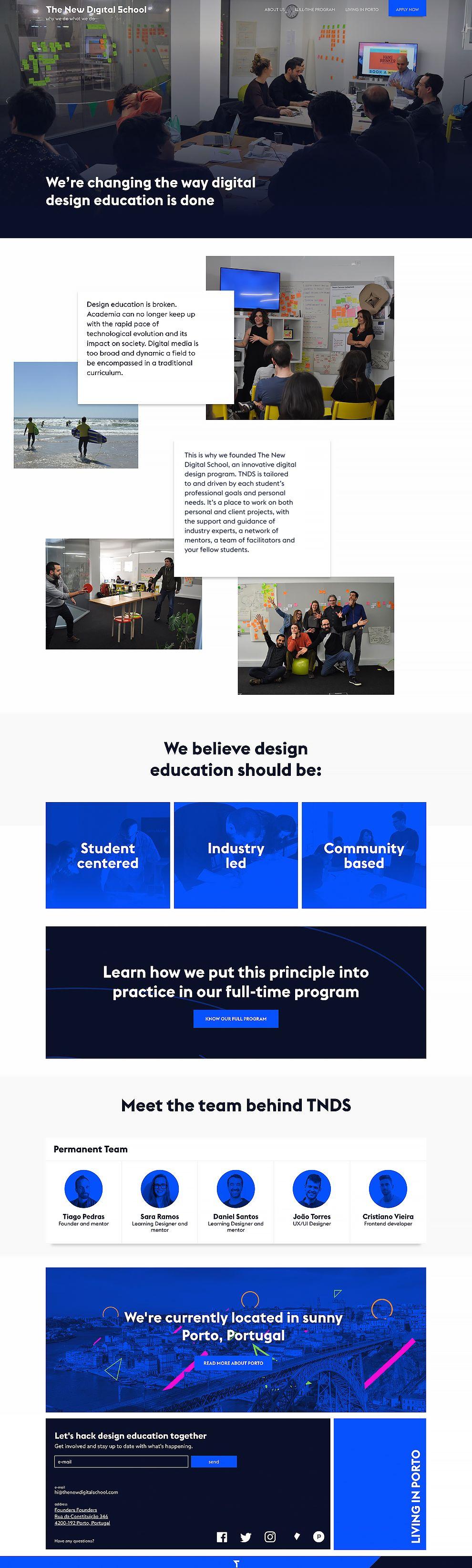 The New Digital School Best Web Design
