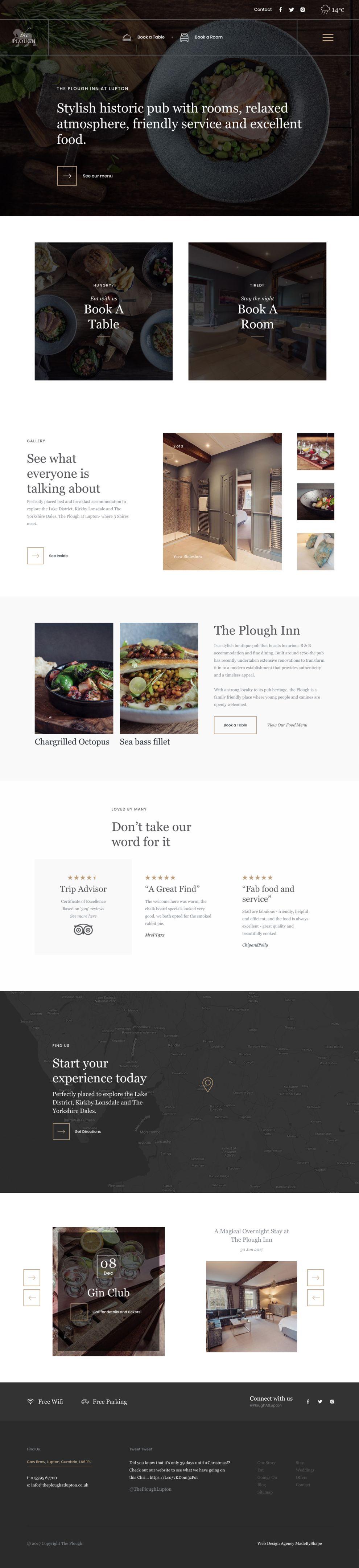 The Plough Inn Elegant Homepage