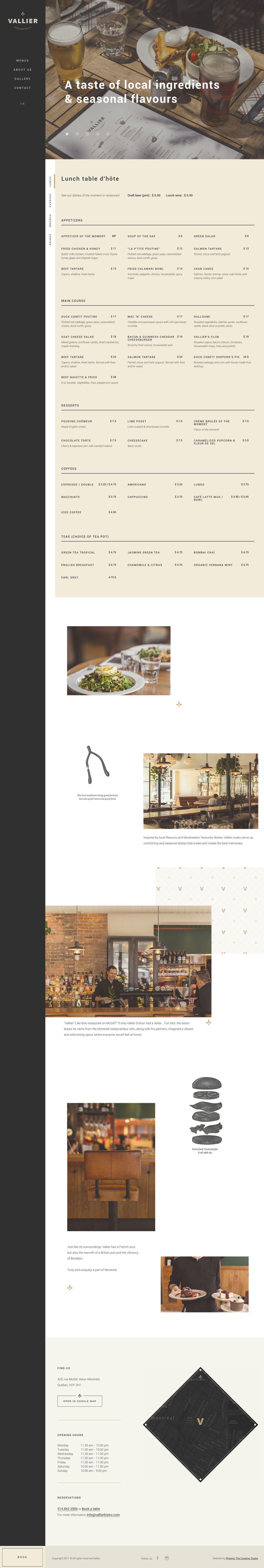 Vallier Bistro Elegant Website Design