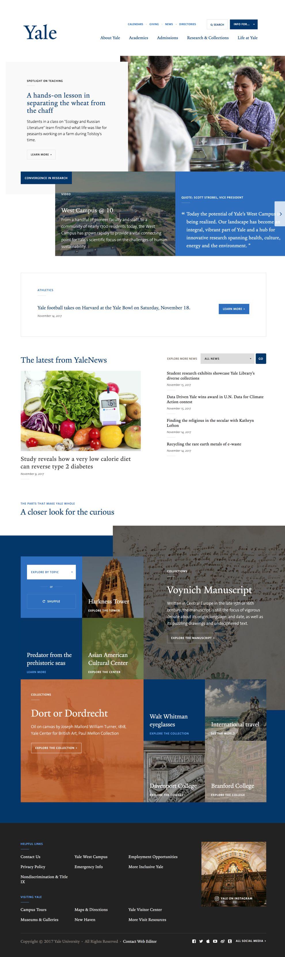Yale University Professional Homepage