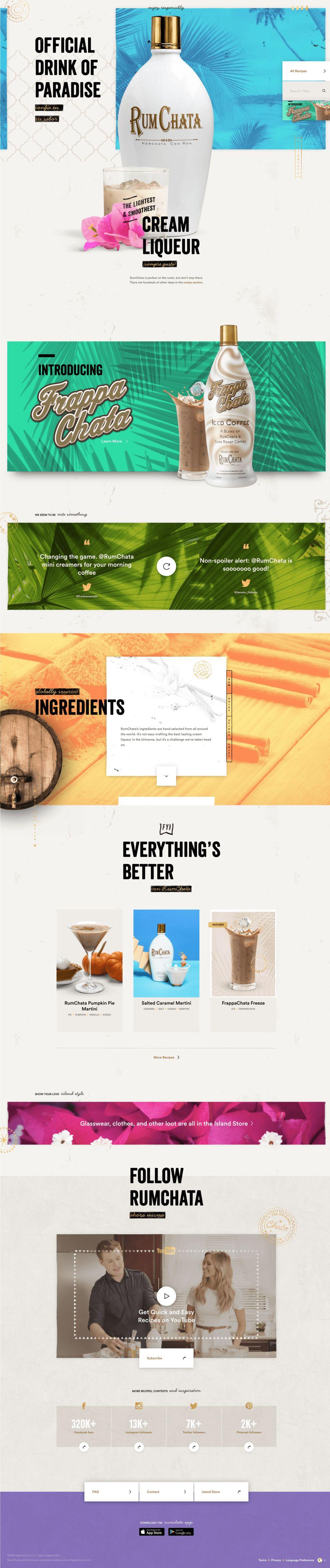 Rum Chata Beautiful Homepage