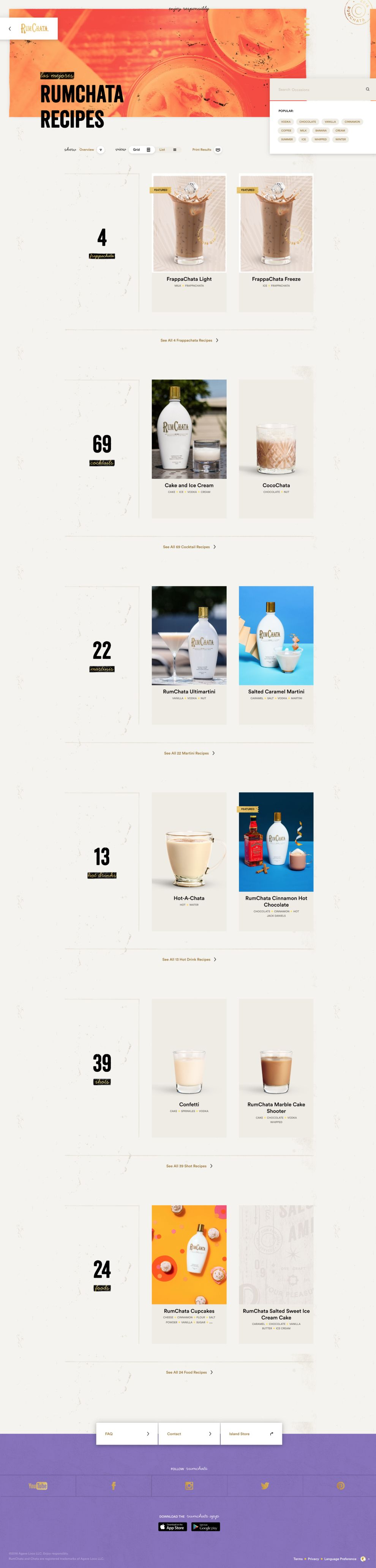 Rum Chata Beautiful Product Page