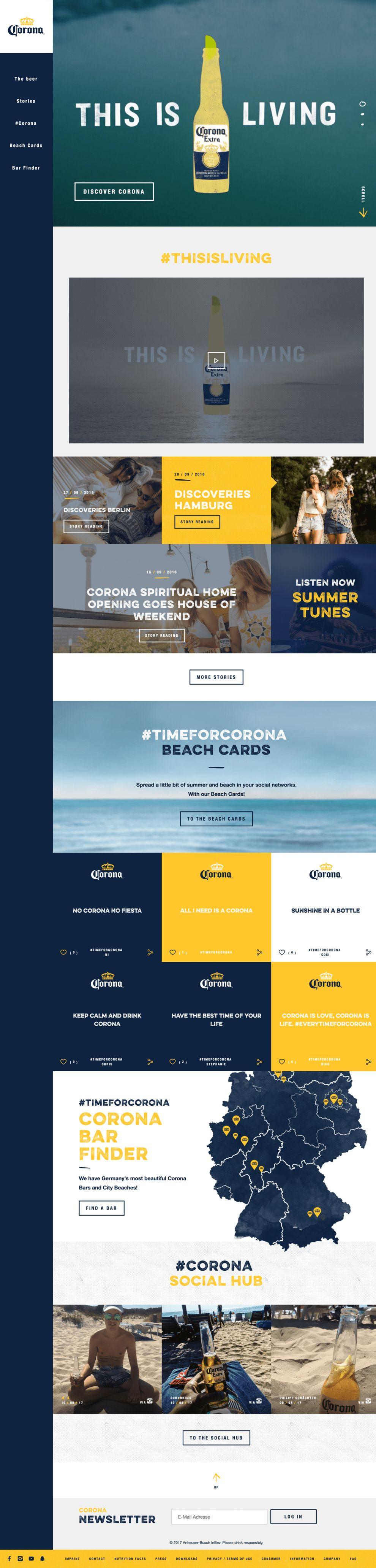 Corona.de Amazing Homepage