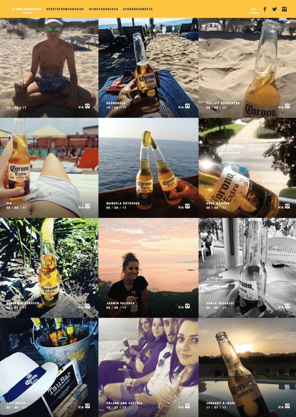Corona.de Amazing Social Walls Page