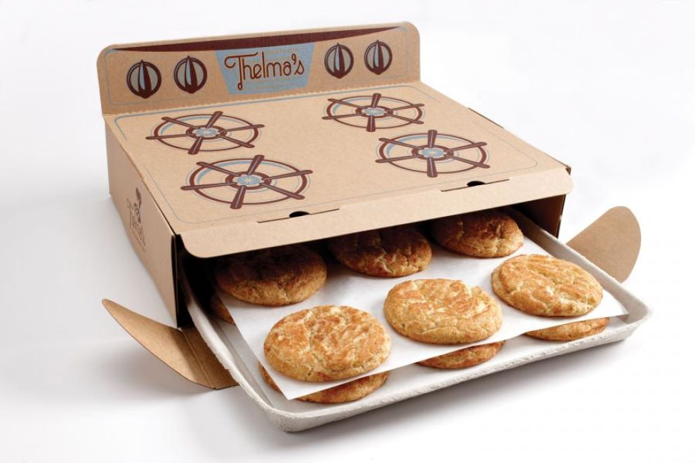 Thelma's Treats Oven Box Playful Package Design