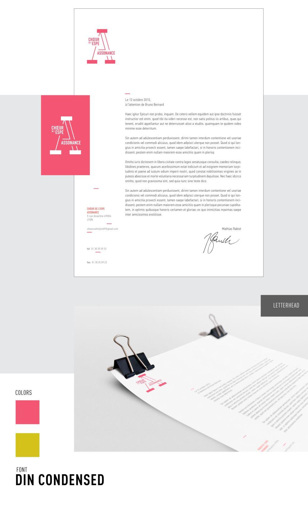 Choeur Assonance Clean Print Design