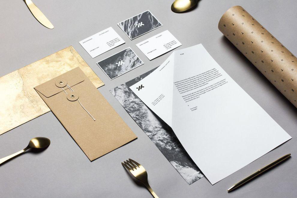 Yx Cutlery Identity Elegant Print Design