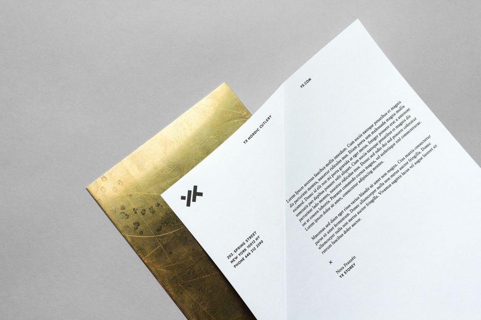 Yx Cutlery Identity Print Design
