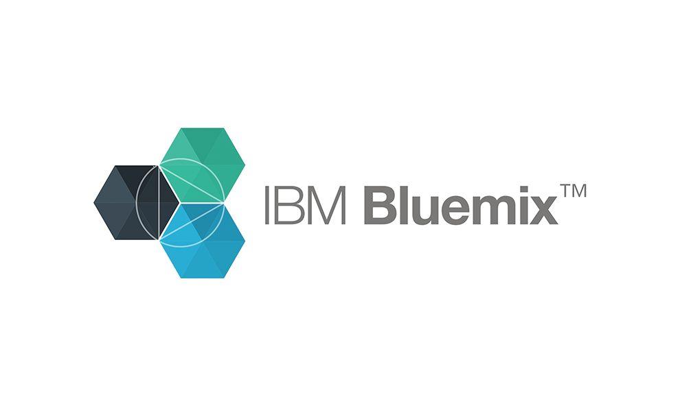 IBM Blue Mix Geometric Logo Design