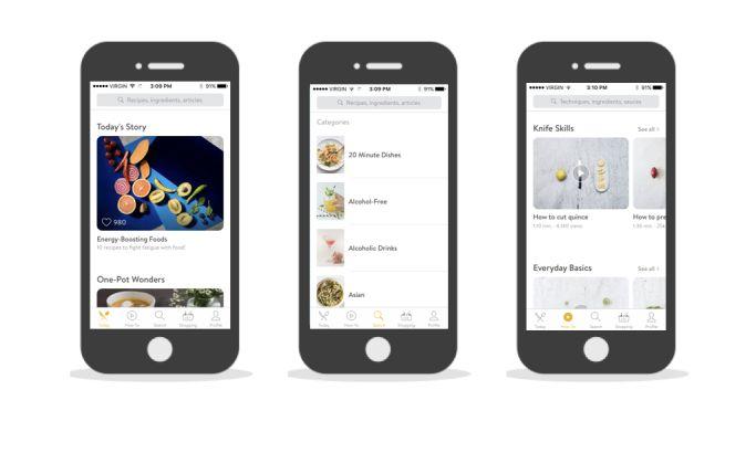 Kitchen Stories Minimal App Design