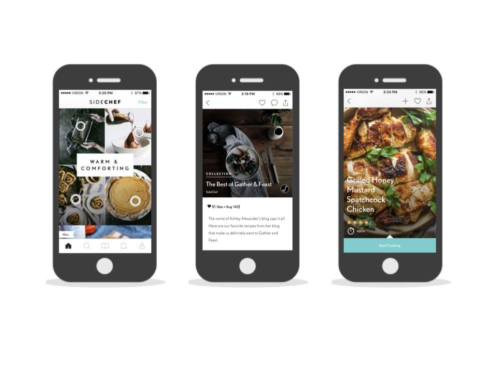 SideChef Elegant App Design