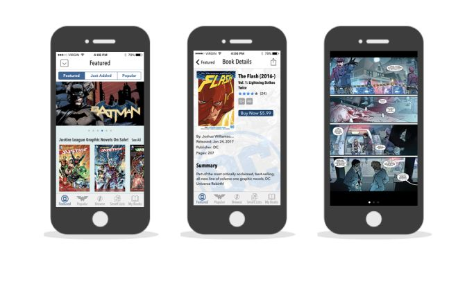 DC Comics Simple App Design