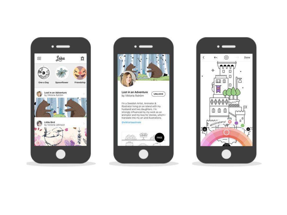 Lake Minimal App Design