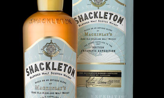 Shackleton Blended Malt Scotch Whisky Elegant Package Design