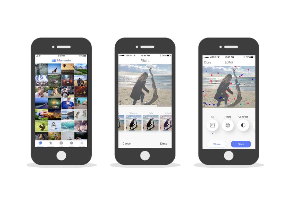 Momento - GIF Maker Sleek App Design