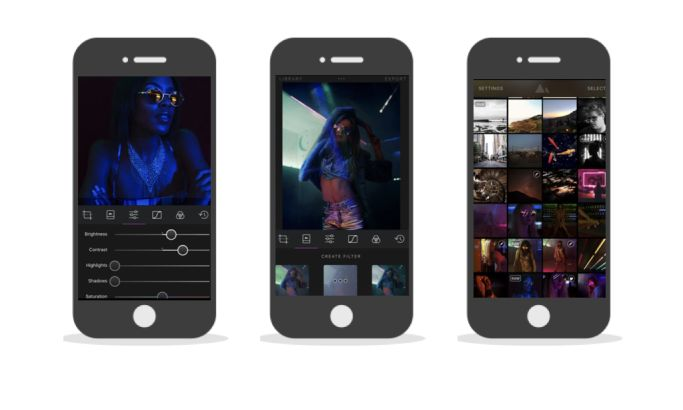 Darkroom Contemporary App Design