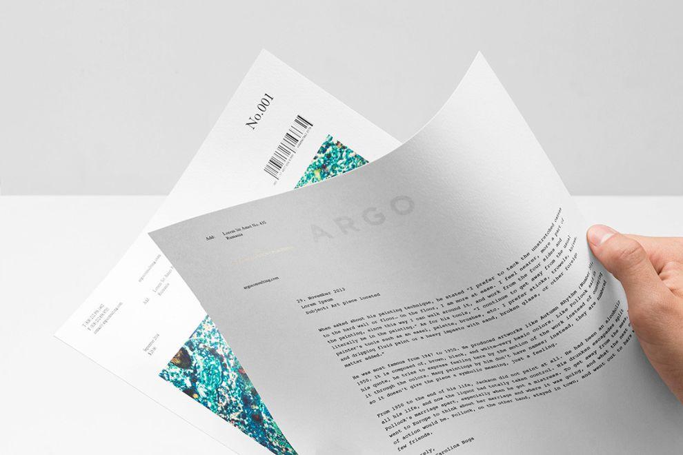 Argo Simple Print Design
