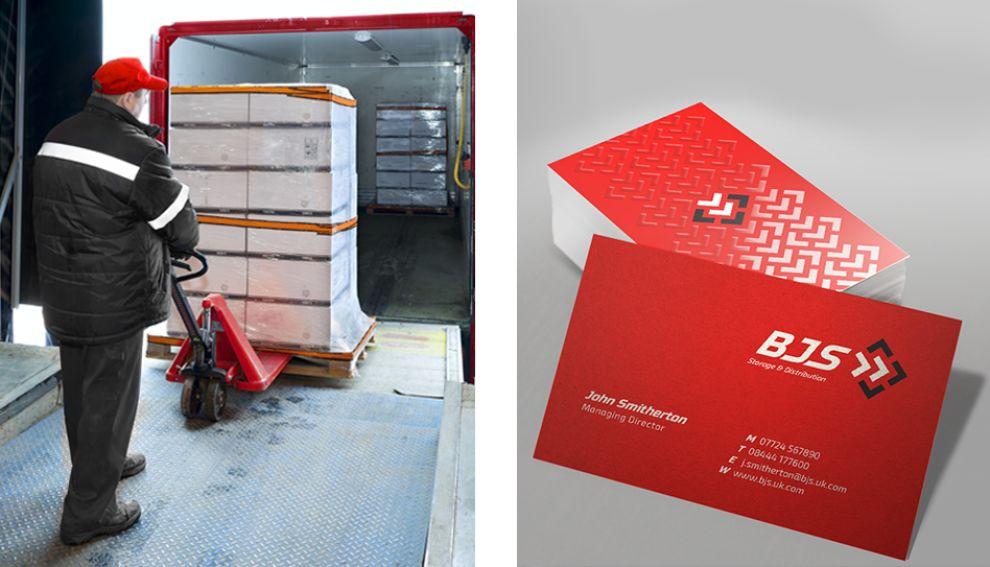 BJS Storage and Distribution Corporate Print Design