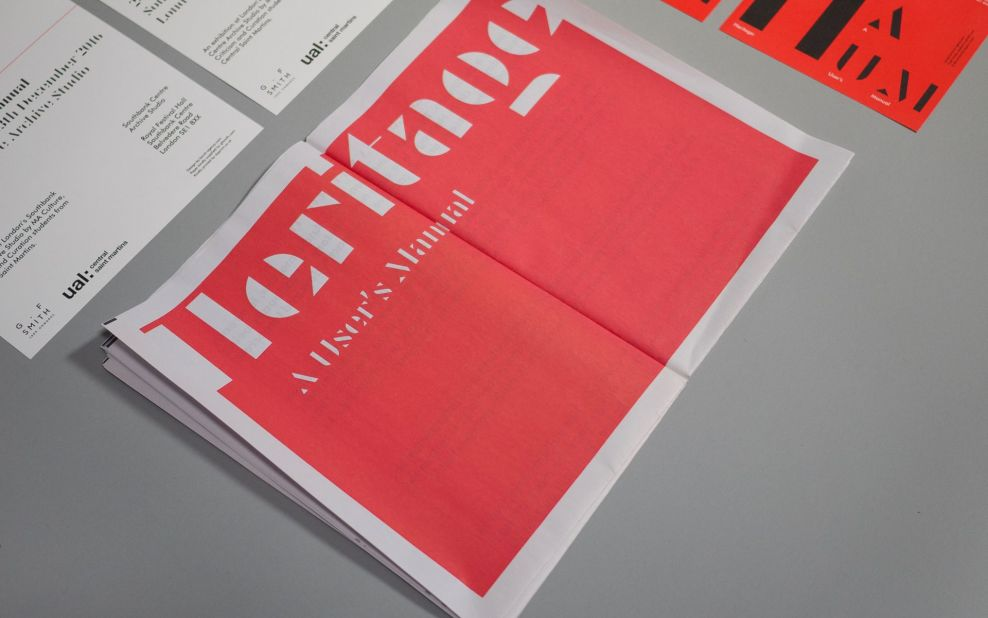 Heritage: A User's Manual Contemporary Print Design