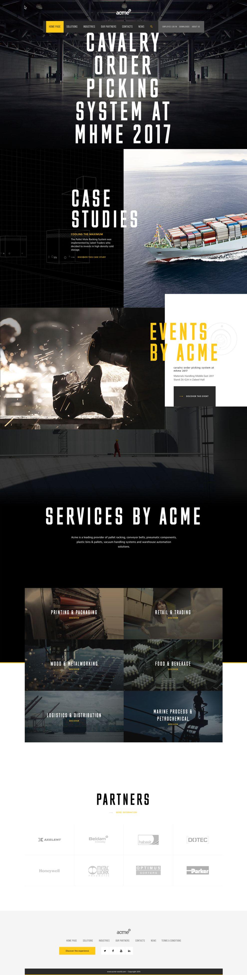 Acme World Corporate Homepage