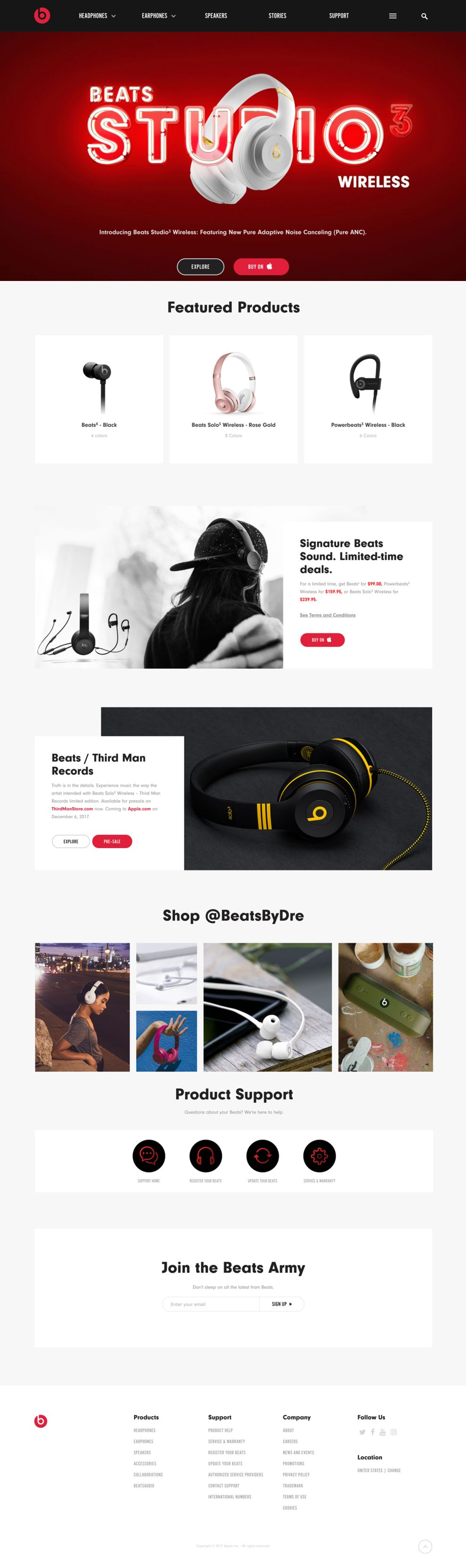 Beats By Dre Clean Homepage