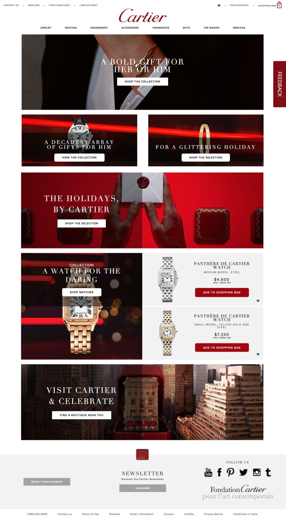 Cartier Elegant Homepage