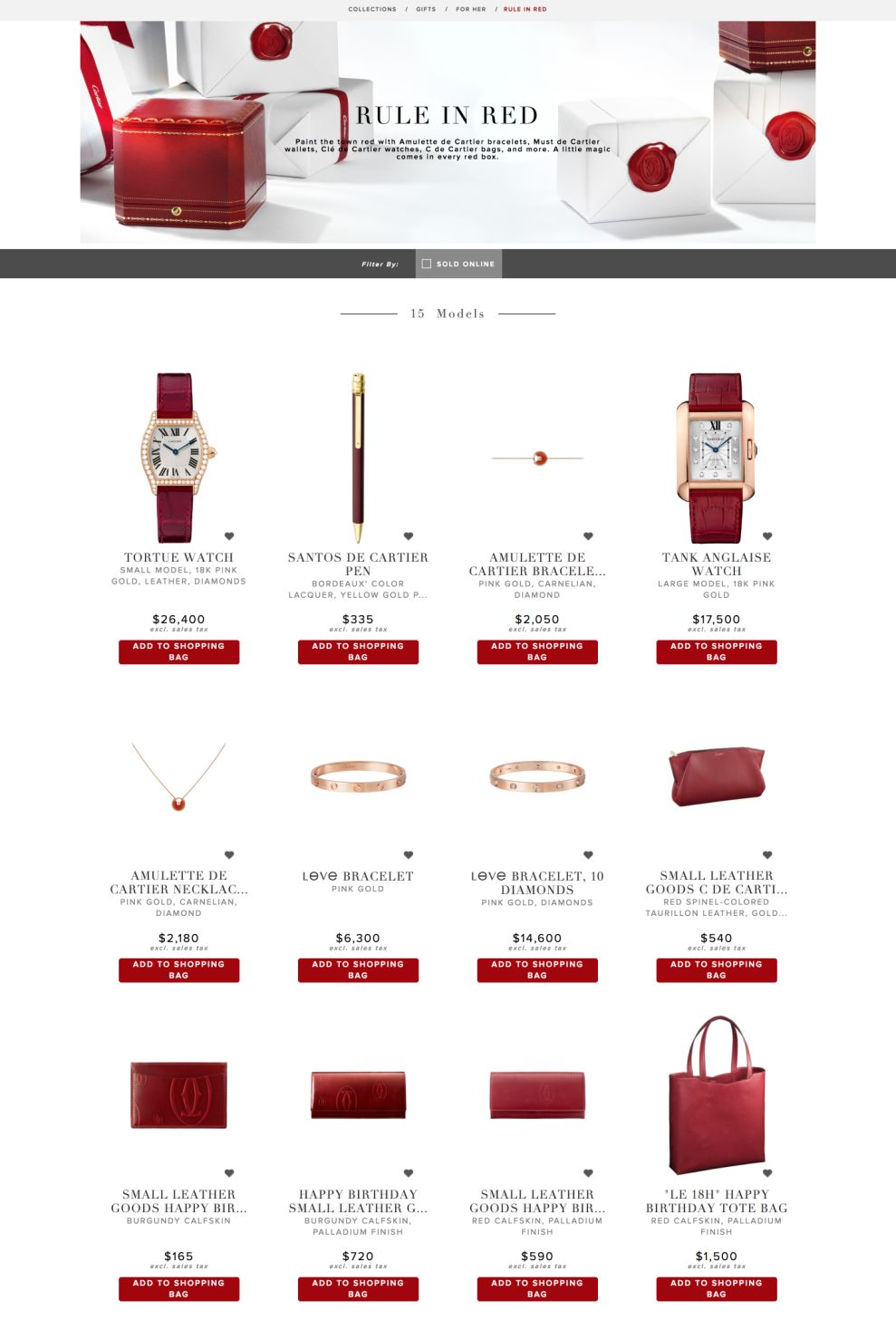 Cartier Clean Product Page