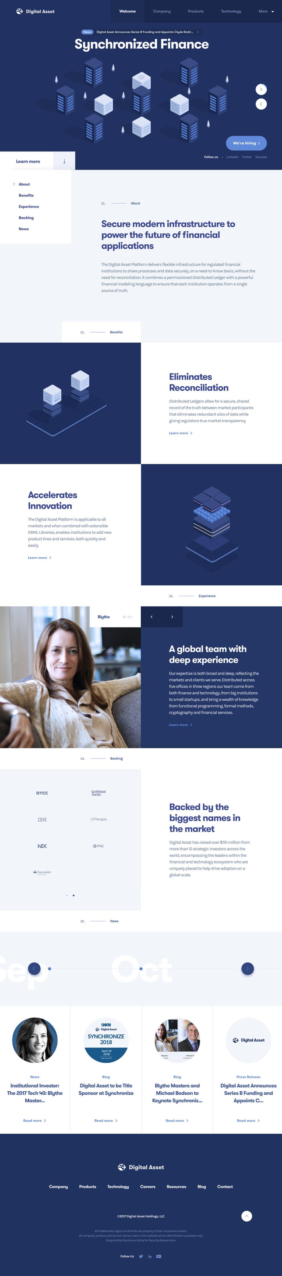 Digital Asset Elegant Website Design