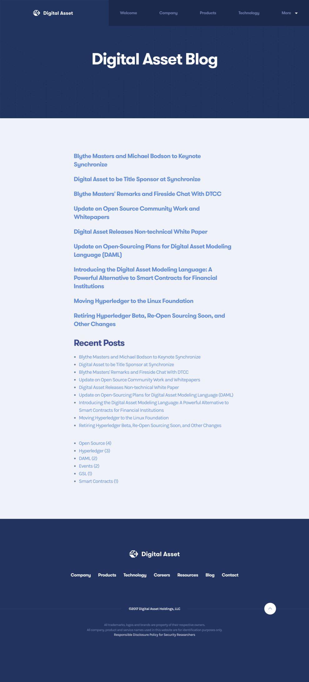 Digital Asset Elegant Blog Page