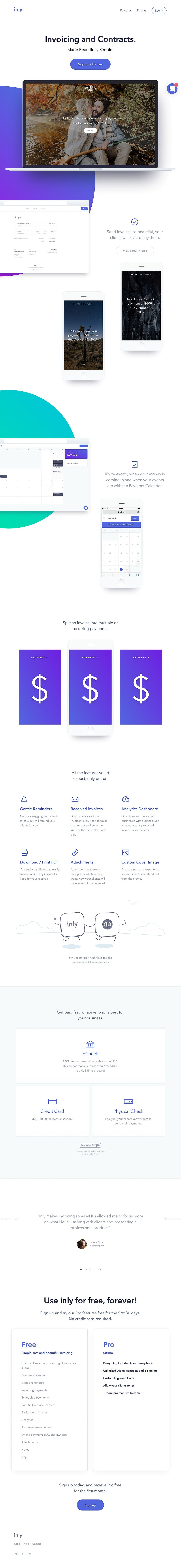 Inly Clean Website Design Single-Page