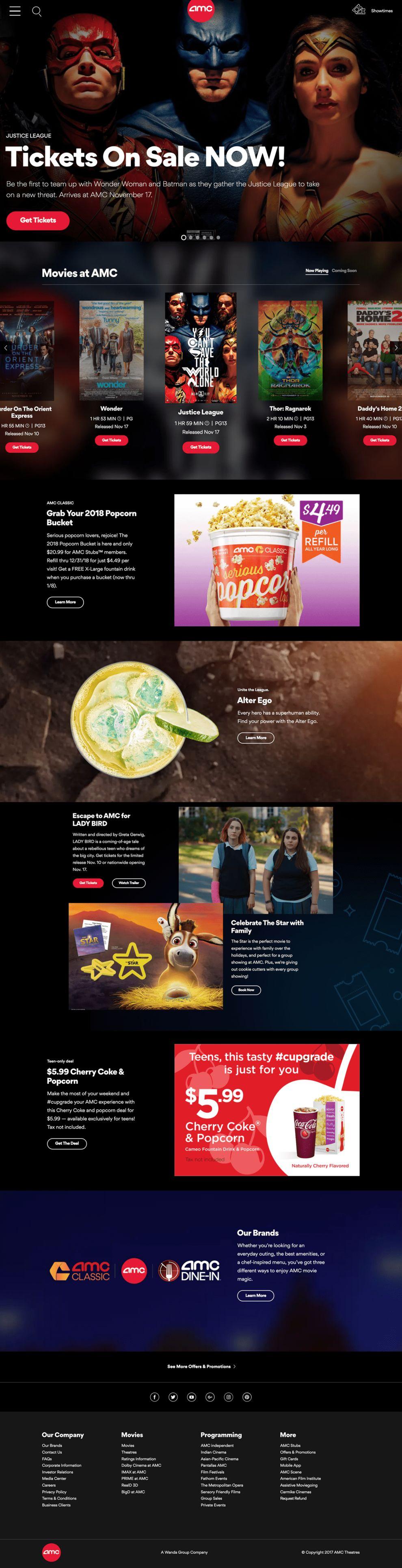 AMC Theatres Great Website Design