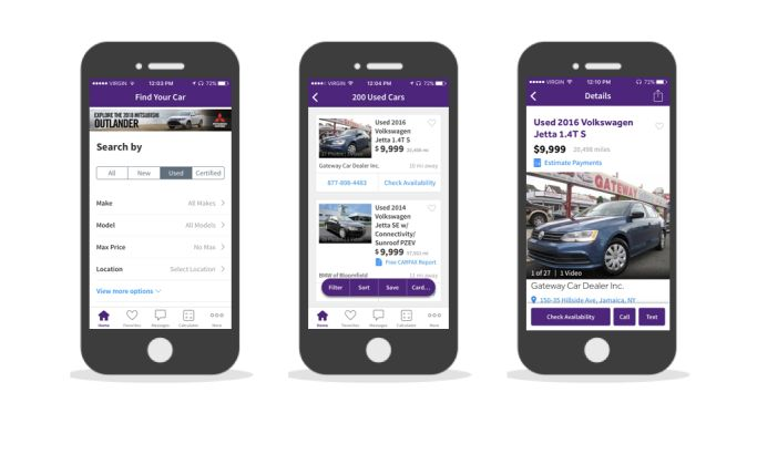 Cars.com Simple App Design