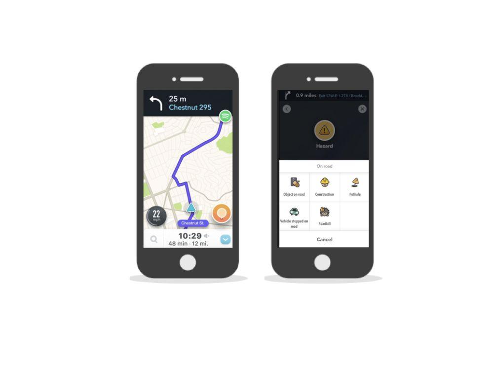 Waze Homescreen App Design
