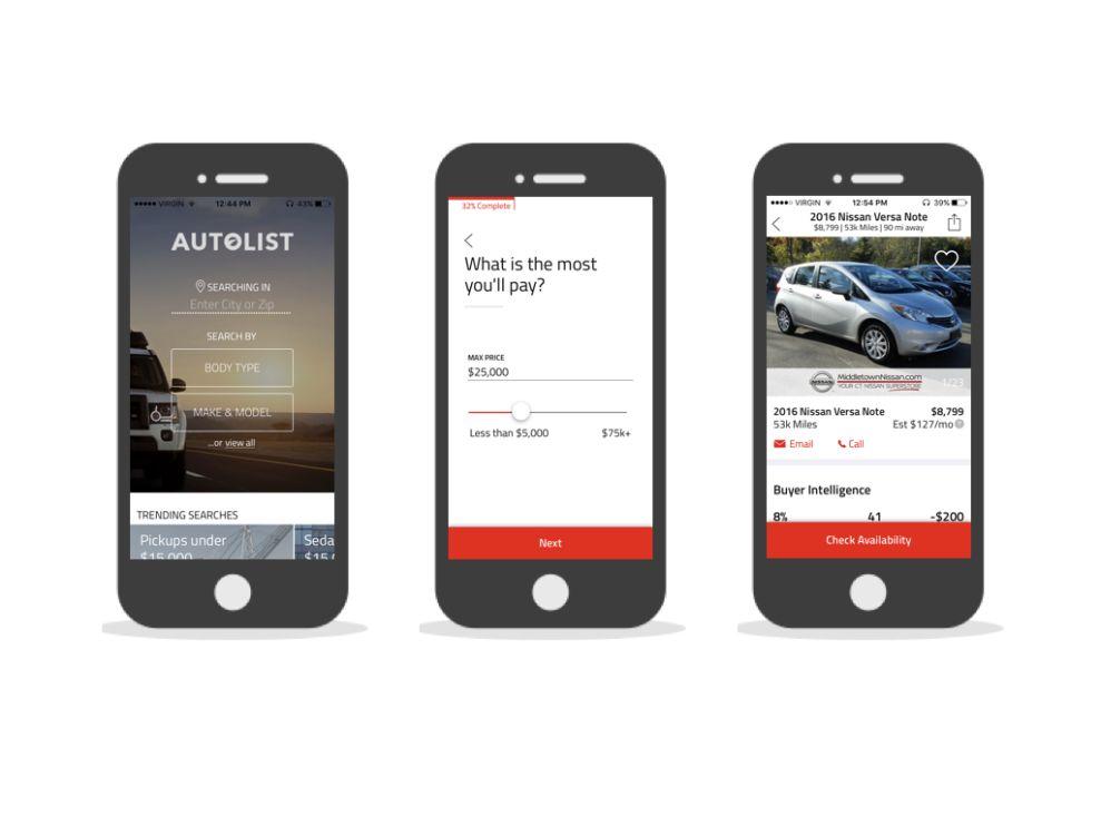Autolist Modern App Design