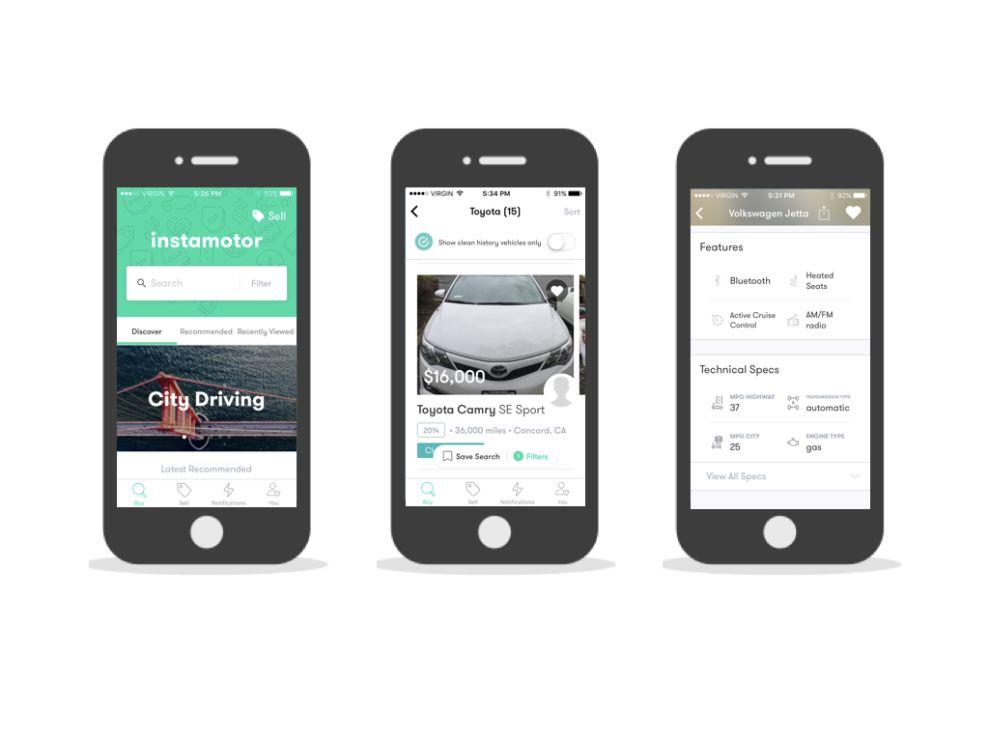 Instamotor Clean App Design