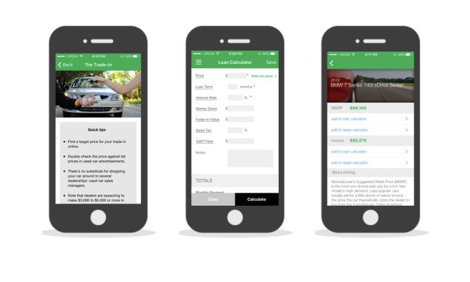 Car Buying Guide & Ratings User-Friendly App Design