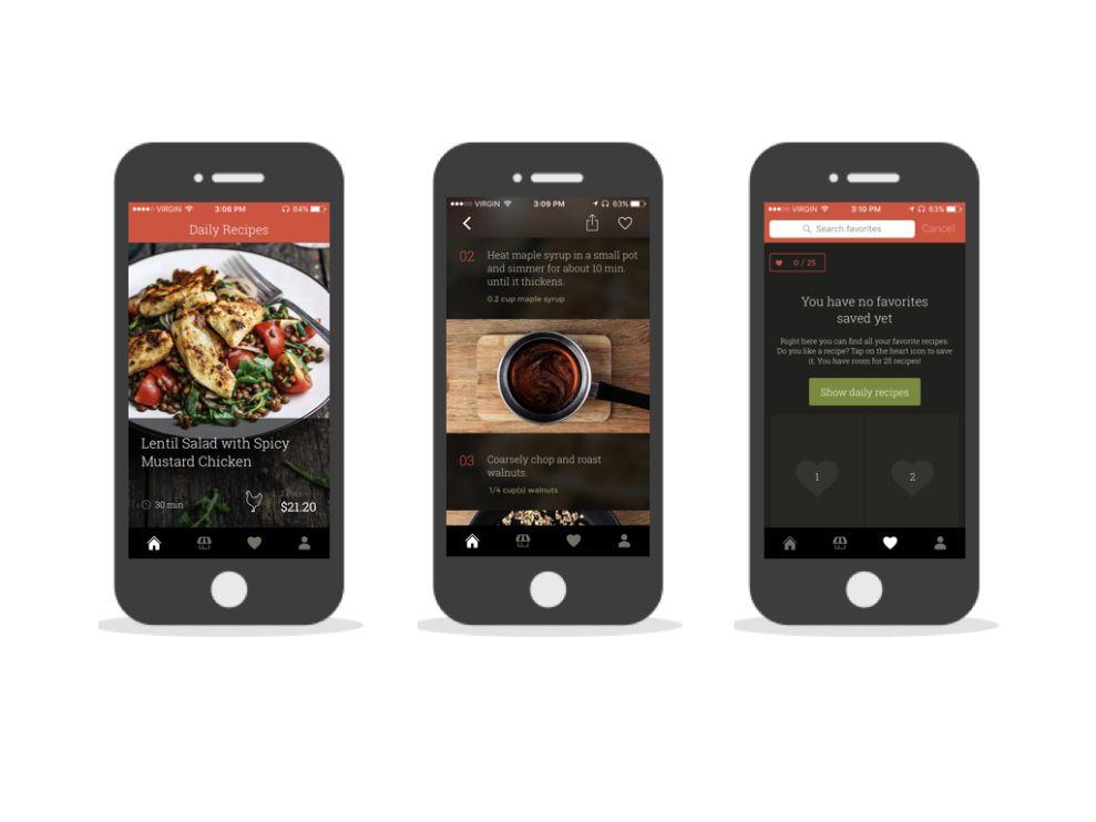 KptnCook Contemporary App Design