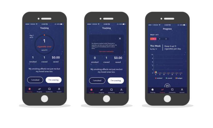 LIVESTRONG My Quit Coach Motivational App Design