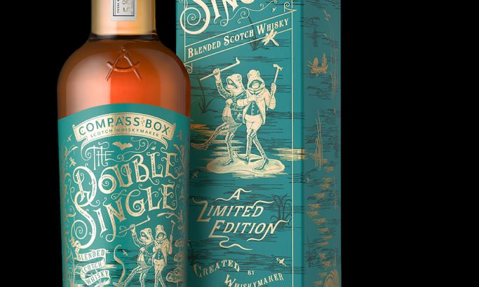 Compass Box -- The Double Single Elegant Package Design