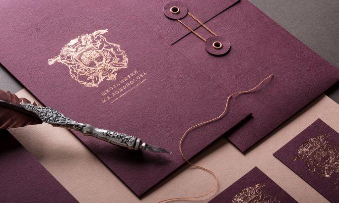 Private Lomonosov School Elegant Print Design