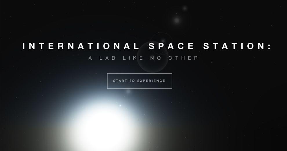 Boeing 3D International Space Station Top Website Design