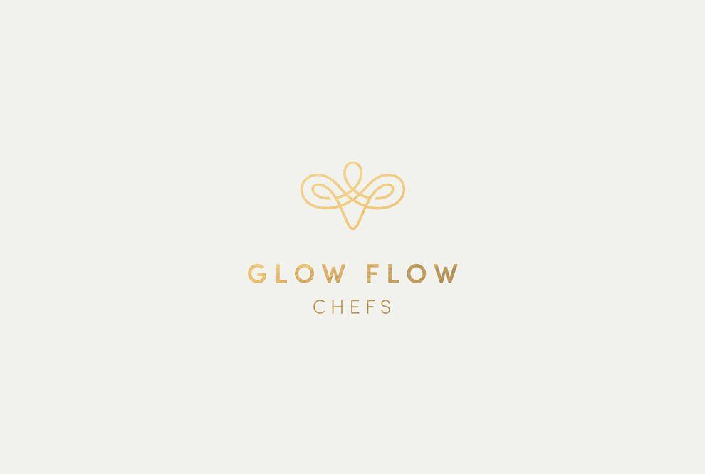 Glow Flow Chefs Sleek Logo Design