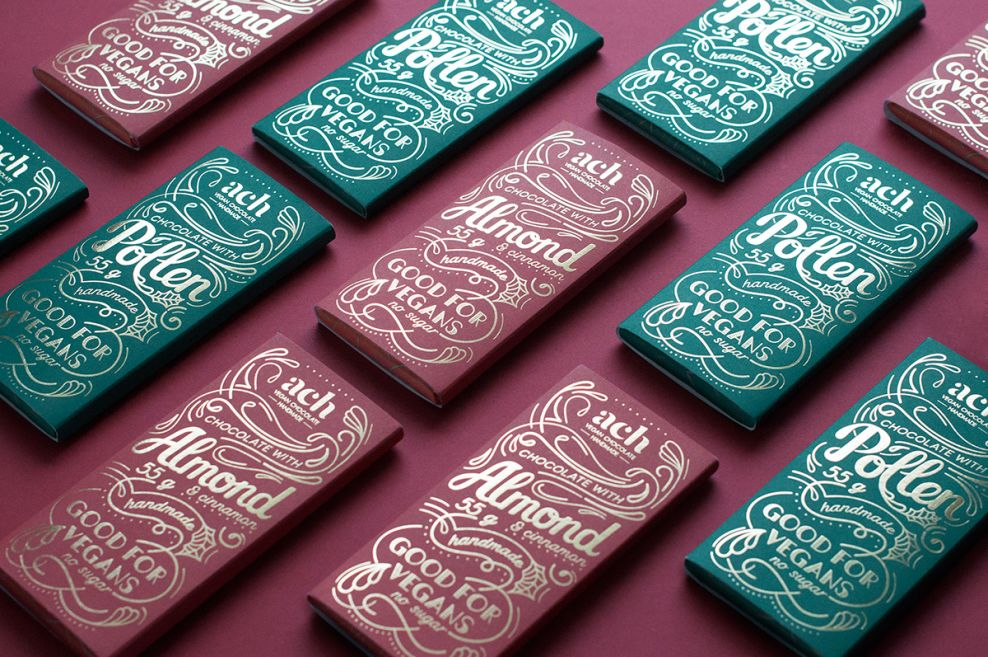 ACH Vegan Chocolate Package Design