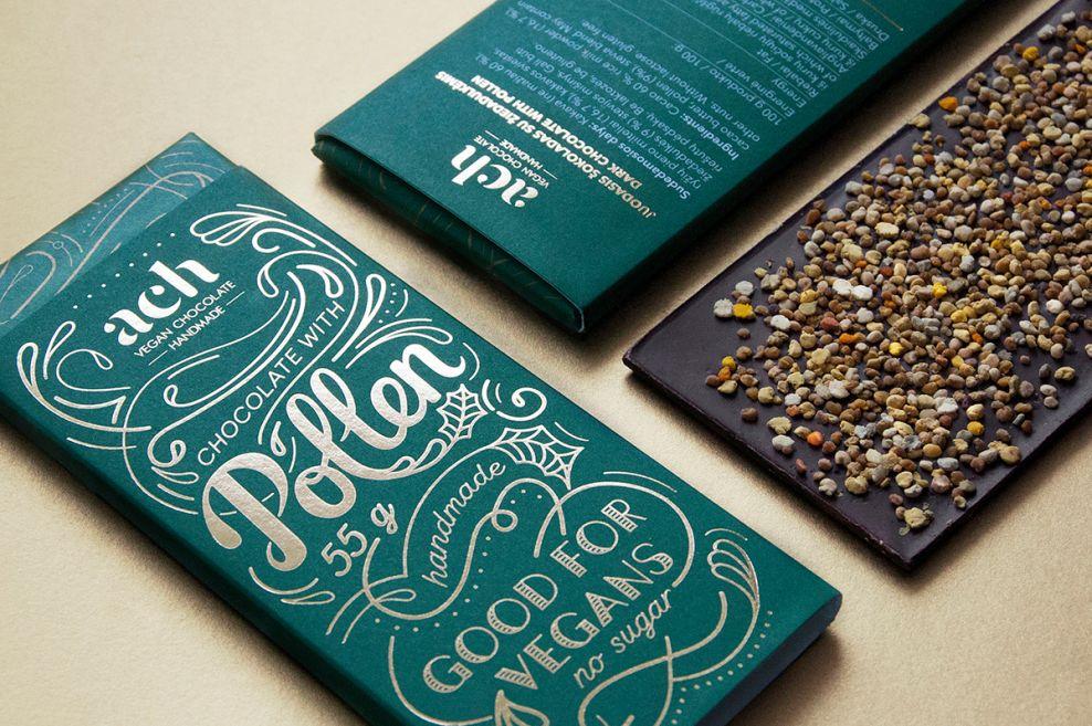 ACH Vegan Chocolate Clean Package Design