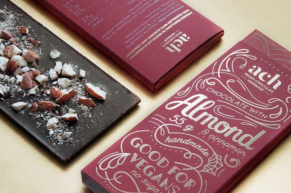 ACH Vegan Chocolate Elegant Package Design