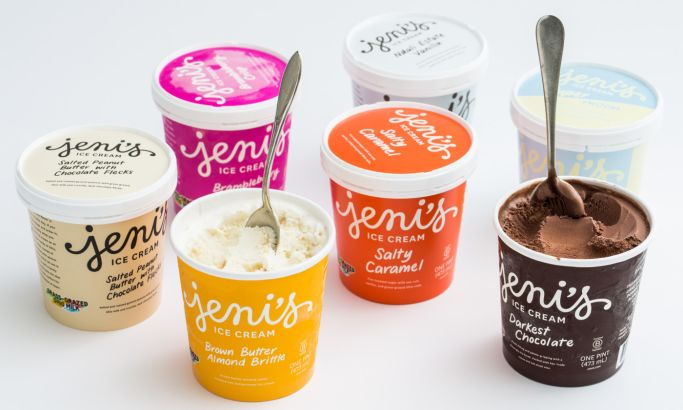 Jeni's Ice Cream Awesome Package Design