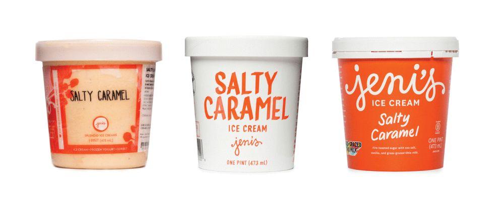 Jeni's Ice Cream Clean Package Design