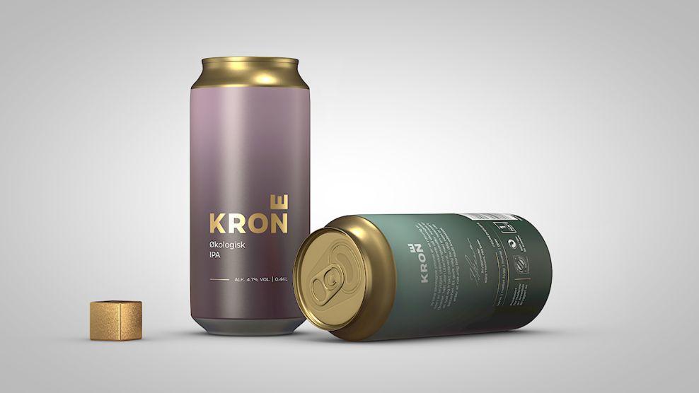 Krone Beer Elegant Package Design