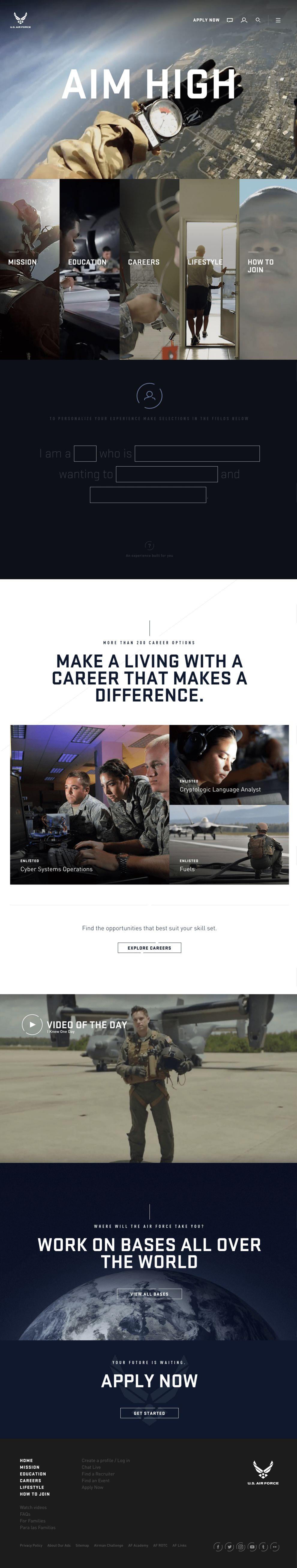Air Force Beautiful Homepage