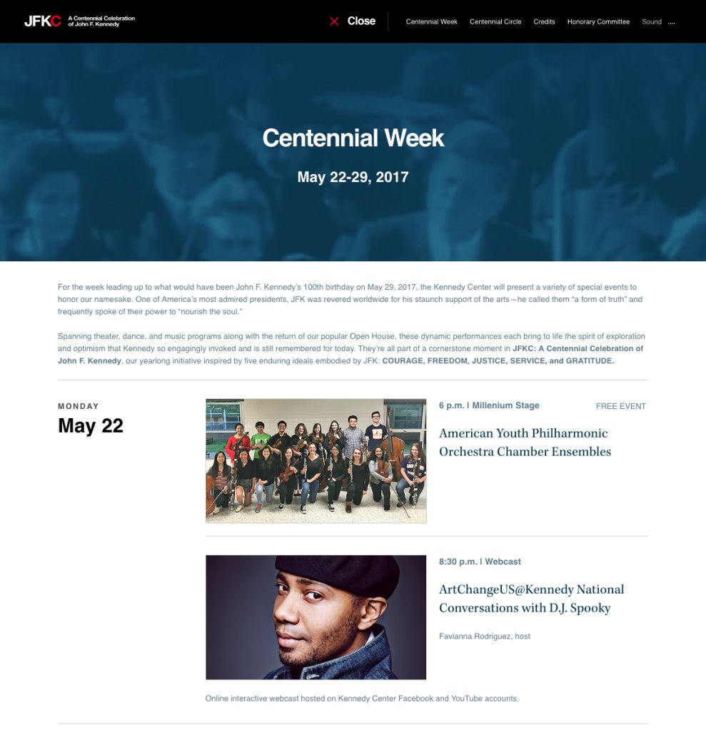 The Kennedy Center Clean News Page